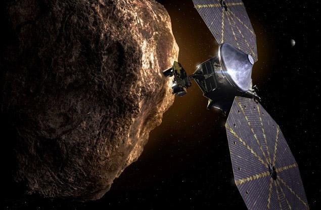 小惑星探査機「ルーシー」の想像図(NASA提供)