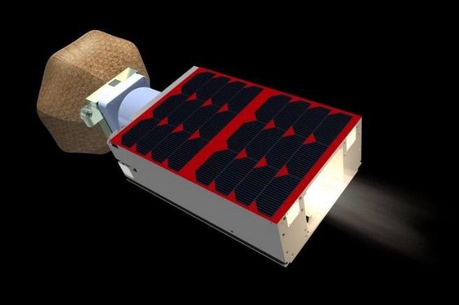 超小型探査機「オモテナシ」(JAXA提供)