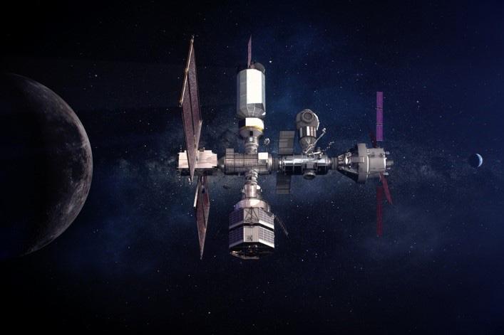 ゲートウェーの最新の想像図(NASA提供)