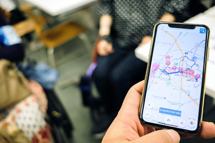 街中での気付きは地図アプリ「WheeLog!」で他の利用者と共有できる(写真提供:WheeLog)