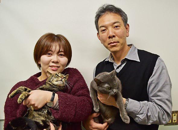 上野山さん(左)と宮崎さん(岩手大学提供)