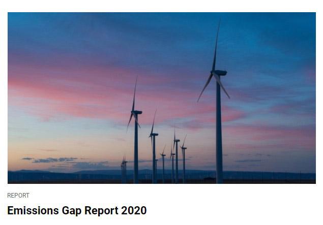 UNEPのホームページに使われている風力発電のイメージ画像(UNEP提供)