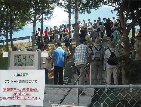 津波避難プロジェクト、写真は宮城県岩沼市(IRIDeS 提供)