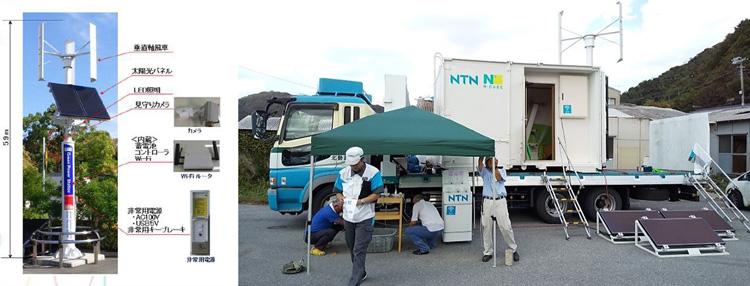 独立電源通信機「たすかんねん」を千葉県で設置(稲場圭信 提供)