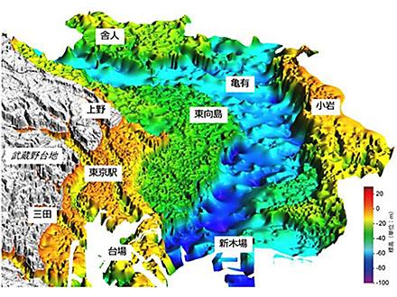 東京23区の地下、ネットで立体表現 産総研が次世代地質図