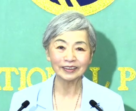 中村桂子氏(日本記者クラブ提供)