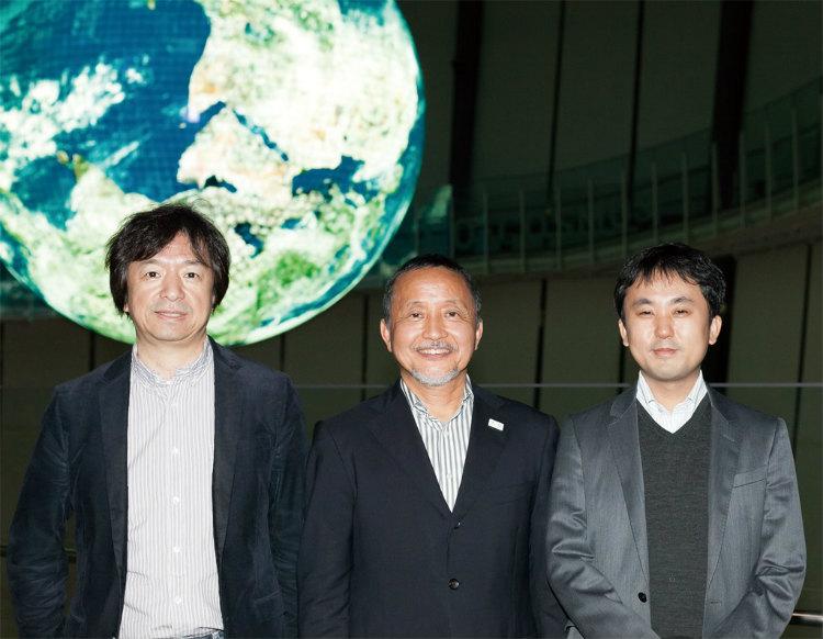 左:クリエイター 伊藤博之さん 中:聞き手 木村政司さん 右:AI研究者 中山浩太郎さん