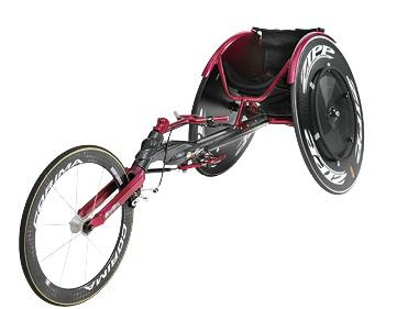 無駄をそぎ落としてスピードを追求するレース用車イス 写真提供:日進医療器
