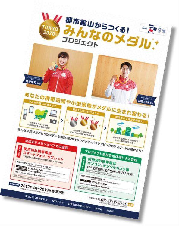 国民へ参加を促す周知ポスター (©Tokyo 2020)